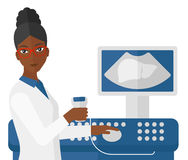 Female ultrasound specialist Royalty Free Stock Photo