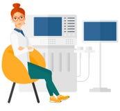 Female ultrasound specialist Stock Image