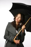 Female with umbrella Stock Photo