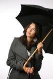 Female with umbrella Stock Photo