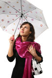Female with umbrella Stock Image