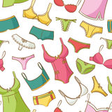 Female Underwear Doodle Pattern Royalty Free Stock Image