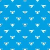 Female underwear pattern seamless blue Royalty Free Stock Photos