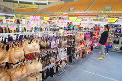 Female underwear sales Stock Image