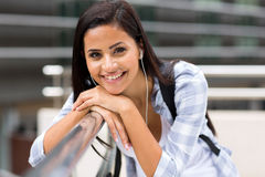 Female university student campus Royalty Free Stock Image