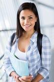 Female university student smiling Stock Photo