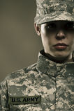 Female US Army Soldier Royalty Free Stock Photos