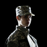 Female US Army Soldier Stock Image
