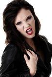 Female vampire. Portrait of a female vampire Stock Photo