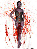 Female Vampire - 3D Figure Royalty Free Stock Photos