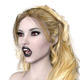Female vampire. 3D CG rendering of a female vampire Stock Images