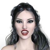 Female vampire. 3D CG rendering of a female vampire Royalty Free Stock Images