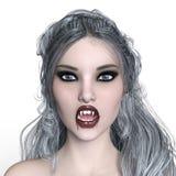 Female vampire. 3D CG rendering of a female vampire Royalty Free Stock Photo