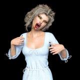 Female vampire. 3D CG rendering of a female vampire Royalty Free Stock Photos