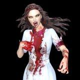 Female vampire. 3D CG rendering of a female vampire Stock Photos