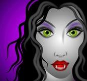 Female Vampire Face 2 Royalty Free Stock Photos