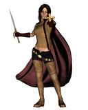 Female Vampire Hunter Royalty Free Stock Image