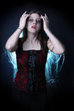 Female vampire with long hair Stock Photos