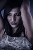Female vampire seductive and dangerous look of terror Stock Photo