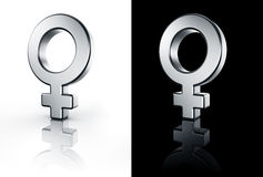 Female venus sign on white and black floor Royalty Free Stock Images
