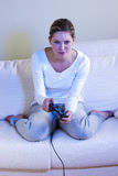 Female video gamer Stock Photos