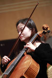 Female viola musician. Southern fujian symphony concerts in xiamen dance theater, amoy city, china. 2014-2-28 Stock Images