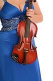 Female Violin Concert Gown Royalty Free Stock Photos