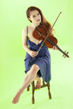 Female violinist. Royalty Free Stock Photos