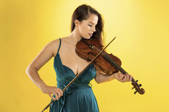 Female violinist. Royalty Free Stock Photography