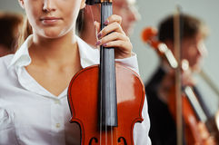Female violinist Stock Images