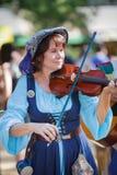Female Violinist Maryland Renaissance Festival Stock Image
