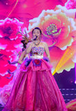 Female vocal solo: chinese peony flower Royalty Free Stock Photography