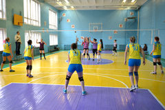 Female volleyball in Ukraine Royalty Free Stock Photos