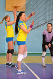 Female volleyball in Ukraine Royalty Free Stock Photography