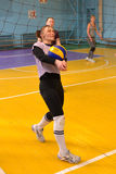 Female volleyball in Ukraine Royalty Free Stock Image