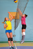 Female volleyball in Ukraine Stock Images
