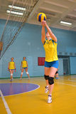 Female volleyball in Ukraine Royalty Free Stock Photo