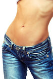 Female waist royalty free stock image