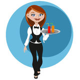 Female waitress Stock Photo