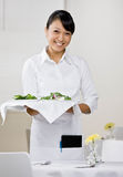 Female waitress Royalty Free Stock Photos