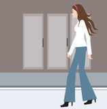 Female walking Royalty Free Stock Images
