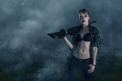 Female warrior Stock Photos