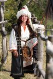 Bulgarian woman warrior stock photos
