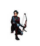 Female watcher with bow Stock Images