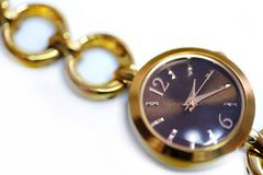 Female watches, close up view stock photography