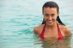 Female in water Stock Photography