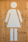 Female WC Sign, Restroom Symbol Royalty Free Stock Photography