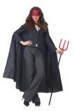 Female wearing devil costume Stock Photos