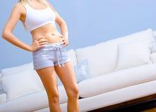 Female Wearing Exercise Clothing Royalty Free Stock Image