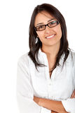 Female wearing glasses Stock Image